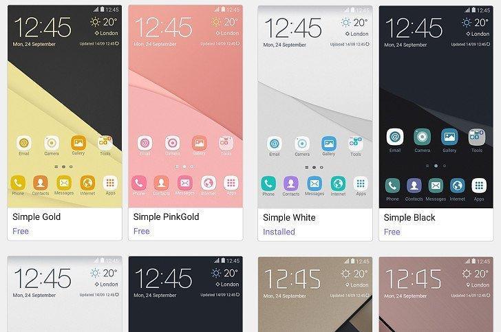 Samsung Galaxy A 2016 serisi için 11 farklı tema yayınlandı