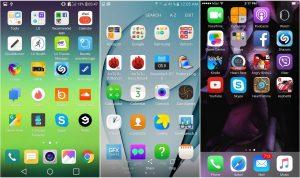 LG G5 Galaxy S7 ve İPhone 6s Arayüz karşılaştırması_02