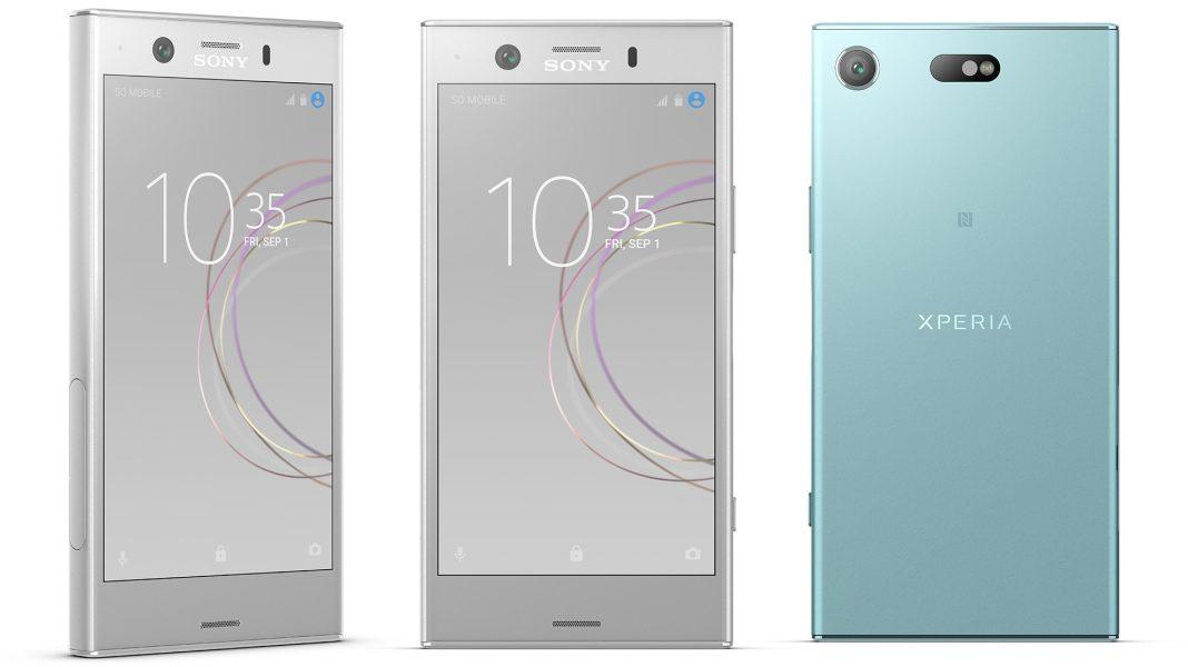 Sony Xperia XZ1 Compact beyaz ve yeşil