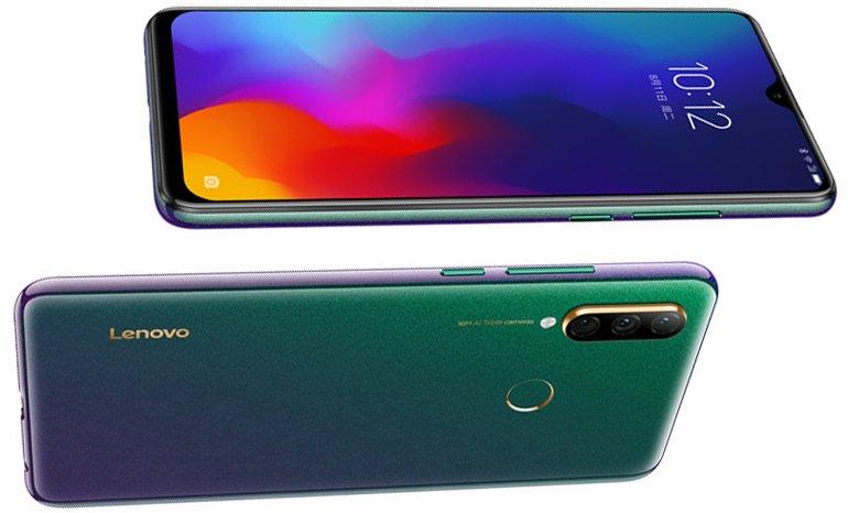 Yeşil Lenovo Z6 Youth 'un yan görseli