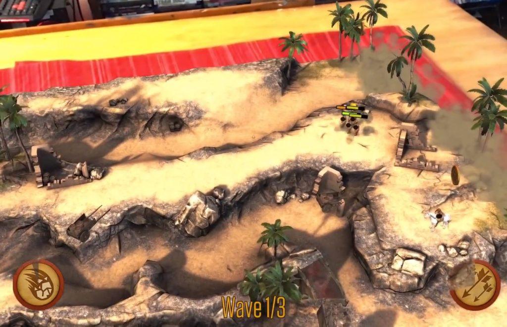 KnightFall ar oyununun tanıtım video oynanış görseli, savunma ar oyunları
