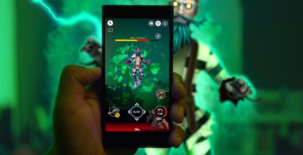 GhostBusters World ar oyununun tanıtım videosu oynanış görseli