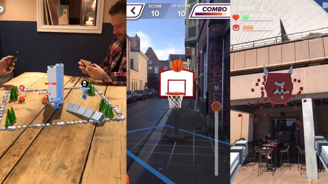 AR Oyun oynanışı, basketbol, takım oyunu ve savaş ar oyunları oynanışı