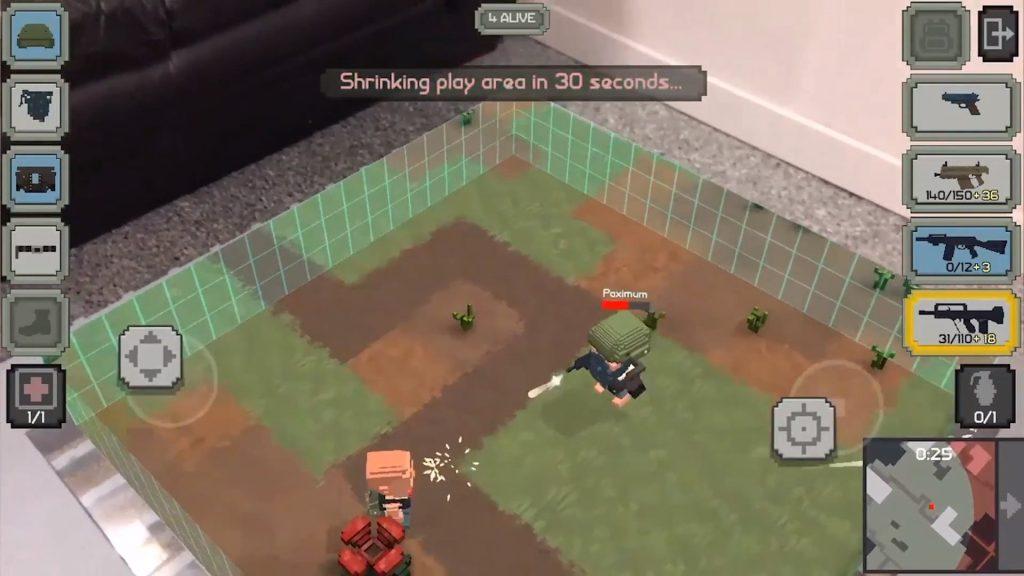 Guns Royale ar oyununun tanıtım videosu oynanış görseli