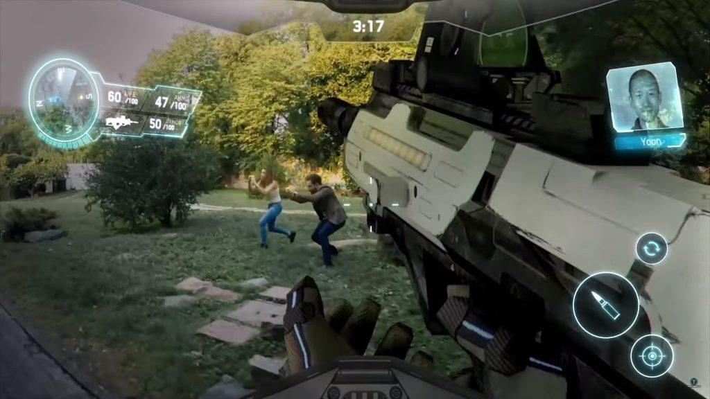 Father IO AR FPS ar oyununun tanıtım video oynanış görseli