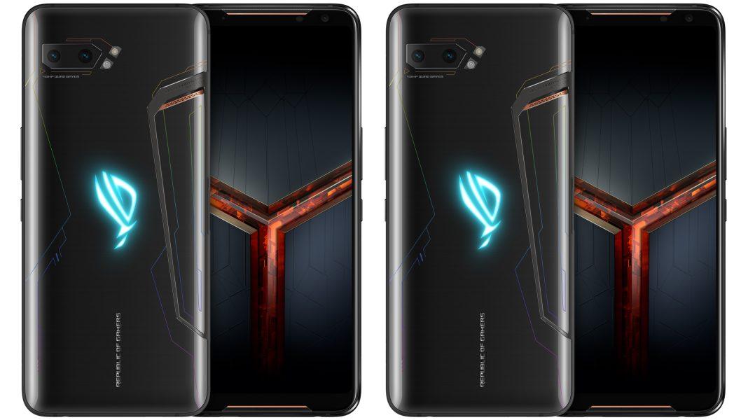 Siyah Asus ROG Phone 2 ön ve arka görseli