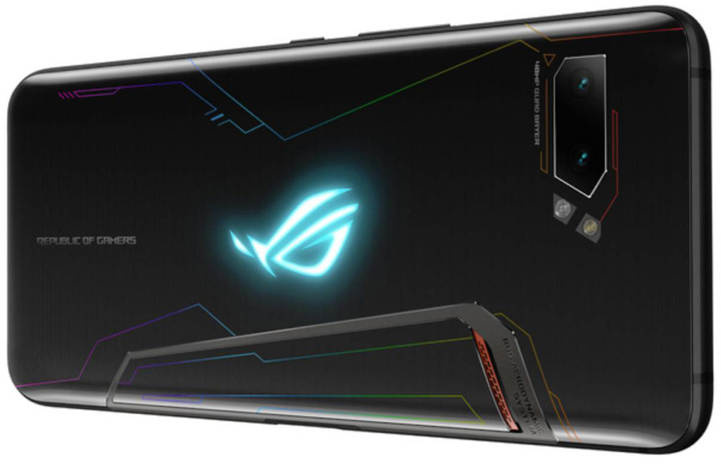 Asus ROG Phone 2 arka tasarım ve arkadaki RGB ışığı