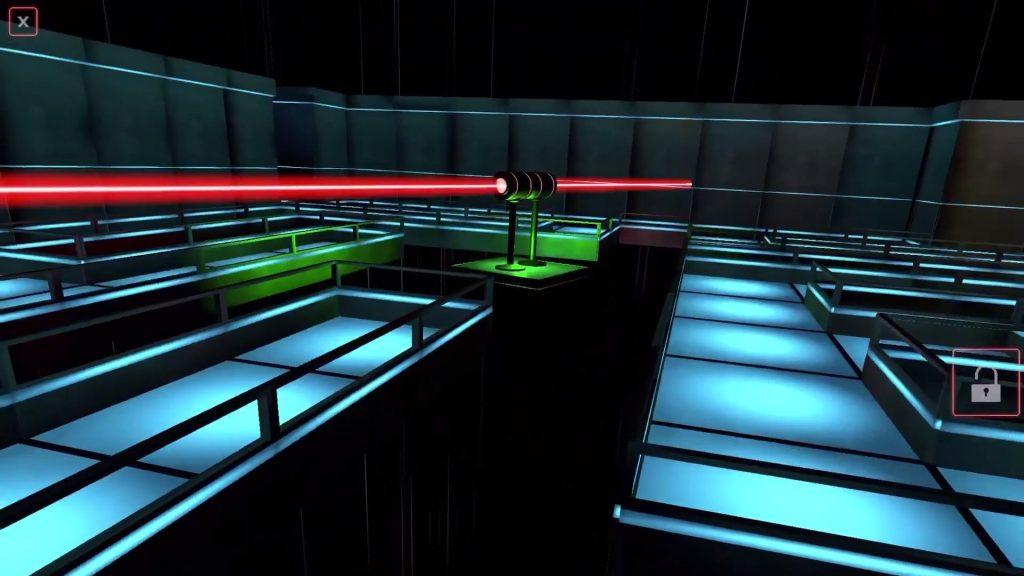 Laser Mazer ar oyununun tanıtım video oynanış görüntüsü