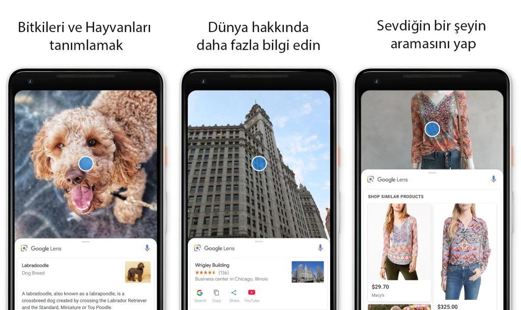 Google Lens kamerayla kullanımı, Telefonla çekilen görseli google lensde aratma