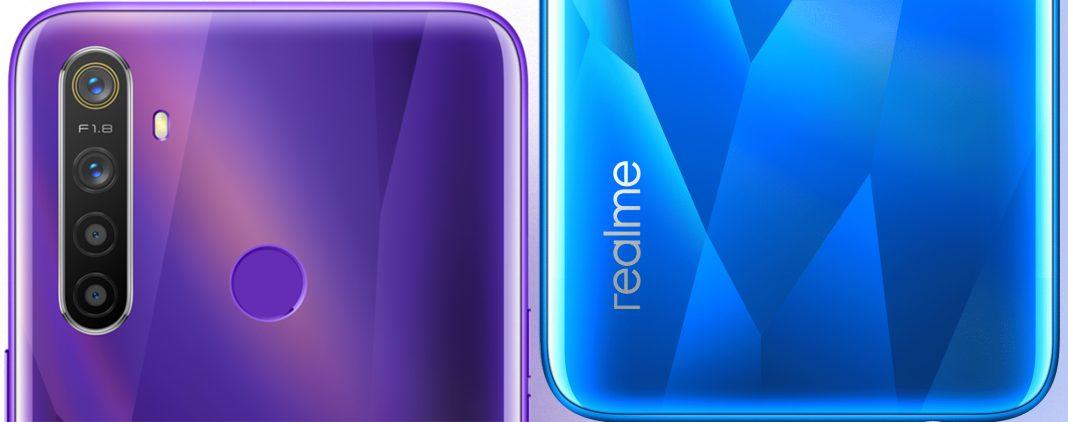 realme 5 özellikleri mavi ve mor