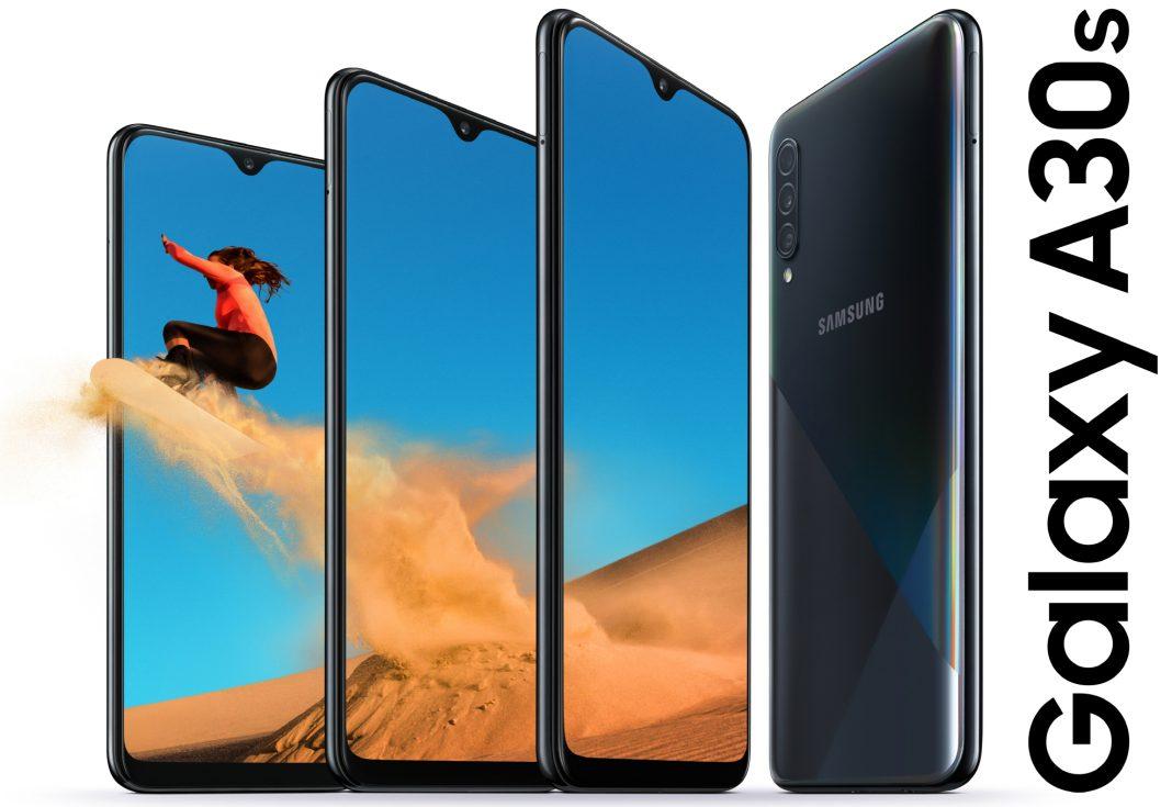 Samsung Galaxy A30s yandan görünüşü