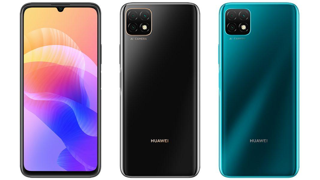 Huawei Enjoy 20 siyah ve mavi
