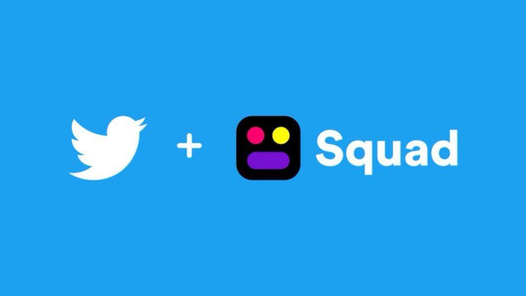 Twitter, Ekran Paylasimli Sosyal Uygulama Squad'i Satin Aldi